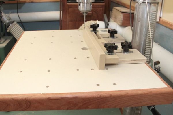 Drill press table top