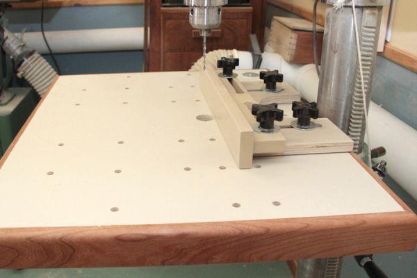 Drill press table top