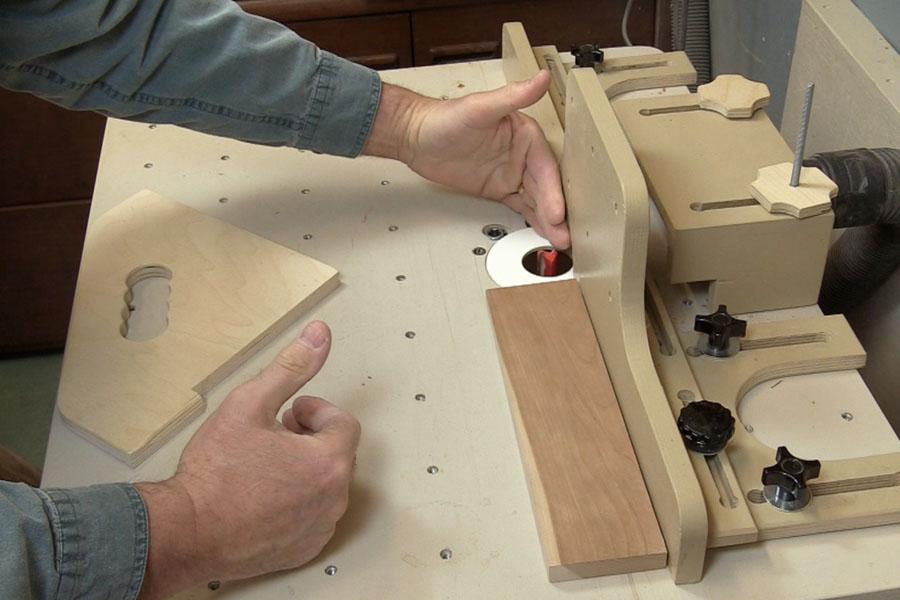 Ajustement d'un appui sur une table à toupie