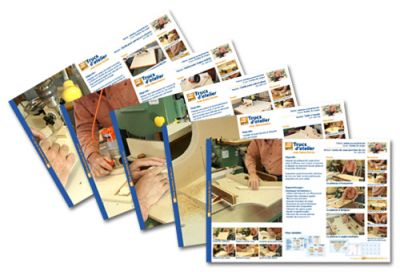 Booklet with detailed drawings included with each course