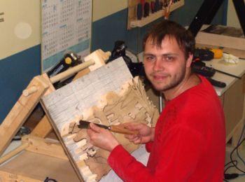 Vladimir Davydov, sculpteur sur bois