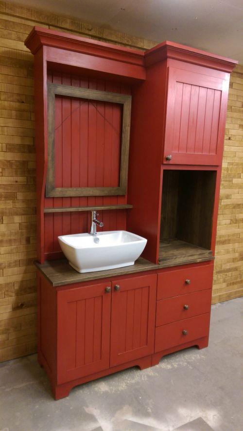 Vanité de salle de bain - fini antique