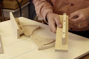 Installation des appuis-guides à angles