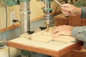 Perçage des composants du gabarit