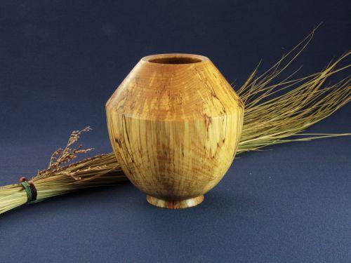 Petit vase en bois coti